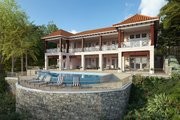 Adobe / Southwestern Style House Plan - 5 Beds 5.5 Baths 5360 Sq/Ft Plan #928-339