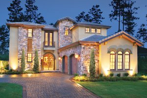 Home Plan - Mediterranean Exterior - Front Elevation Plan #930-22