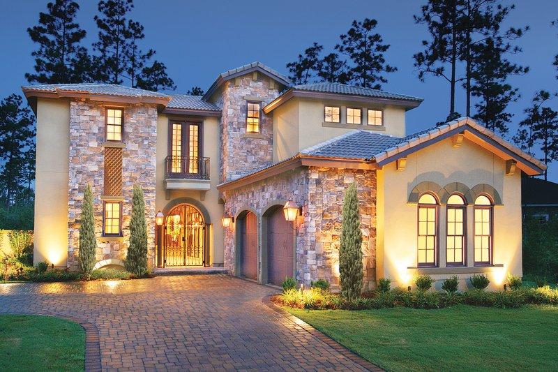 House Design - Mediterranean Exterior - Front Elevation Plan #930-22