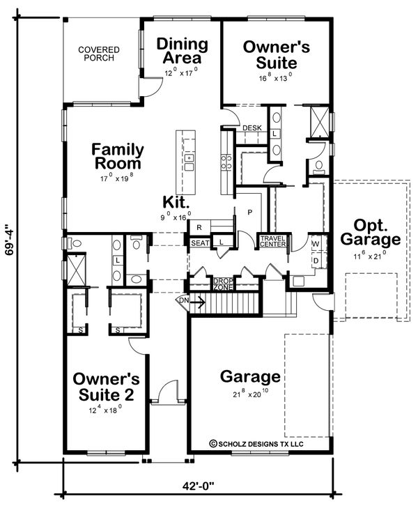 House Plan Design - Traditional Floor Plan - Main Floor Plan #20-2425