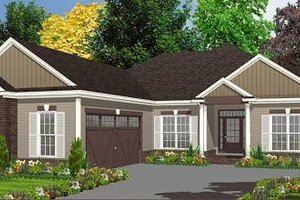 Traditional Exterior - Front Elevation Plan #63-153