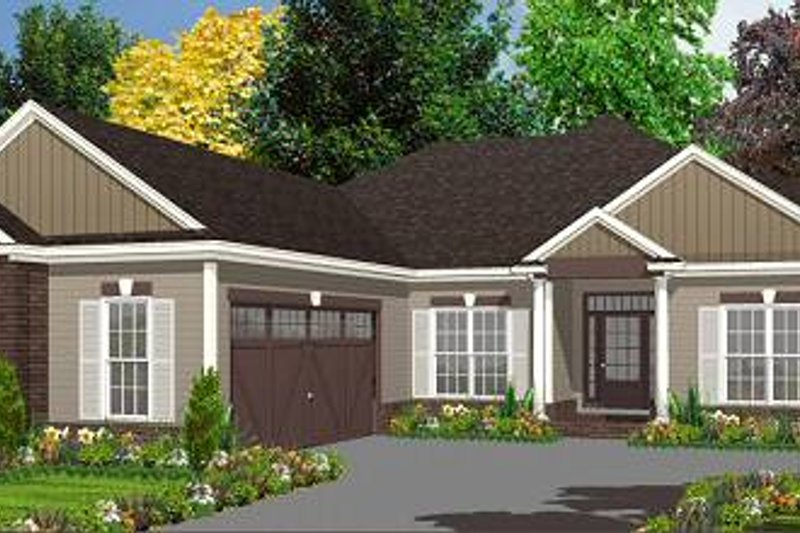 Traditional Style House Plan - 4 Beds 2 Baths 1969 Sq/Ft Plan #63-153 Exterior - Front Elevation