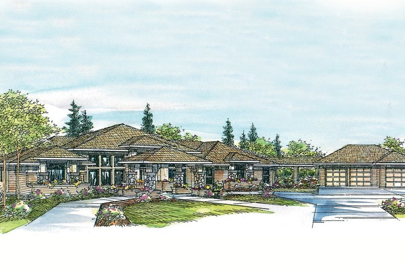 Dream House Plan - Exterior - Other Elevation Plan #124-445