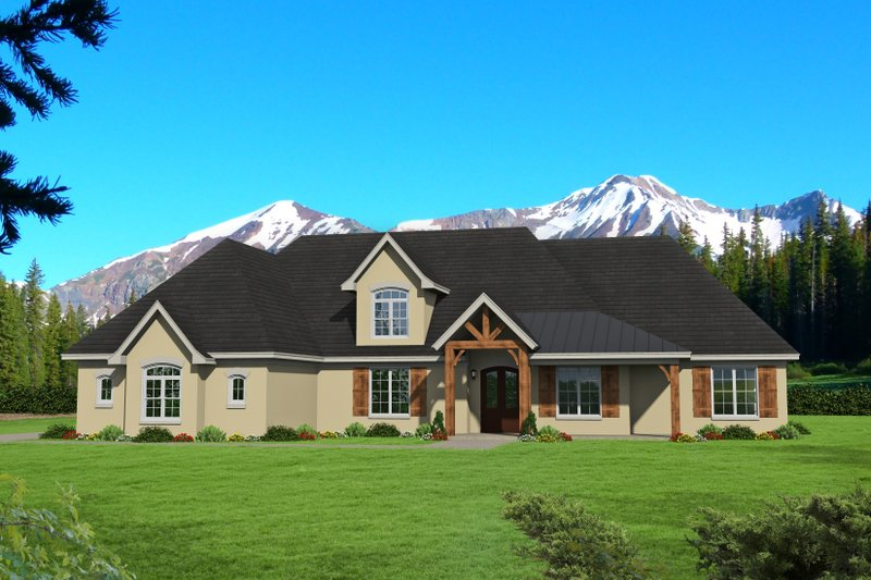Country Exterior - Front Elevation Plan #932-64