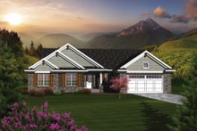 Dream House Plan - Ranch Exterior - Front Elevation Plan #70-1077