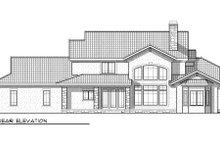 Dream House Plan - Bungalow Exterior - Rear Elevation Plan #70-955