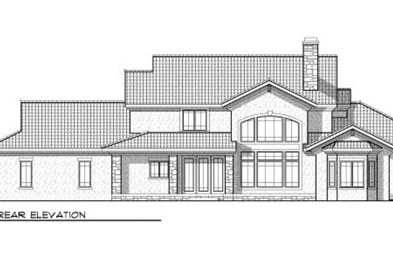 Bungalow Exterior - Rear Elevation Plan #70-955 - Houseplans.com