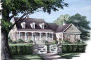 Country Style House Plan - 3 Beds 3 Baths 3639 Sq/Ft Plan #137-141 Exterior - Front Elevation