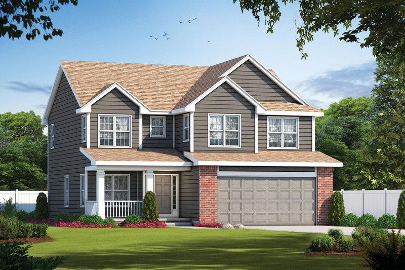Traditional Style House Plan - 4 Beds 3 Baths 2610 Sq/Ft Plan #20-2196