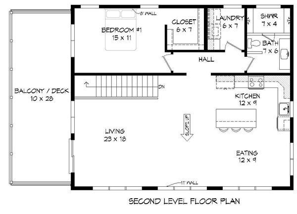 Contemporary Floor Plan - Upper Floor Plan Plan #932-299