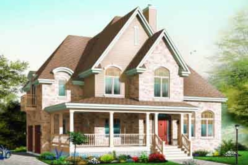 European Exterior - Front Elevation Plan #23-583 - Houseplans.com