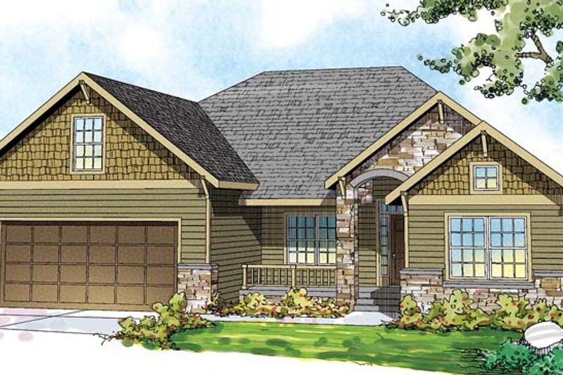 Home Plan - Traditional Exterior - Front Elevation Plan #124-870