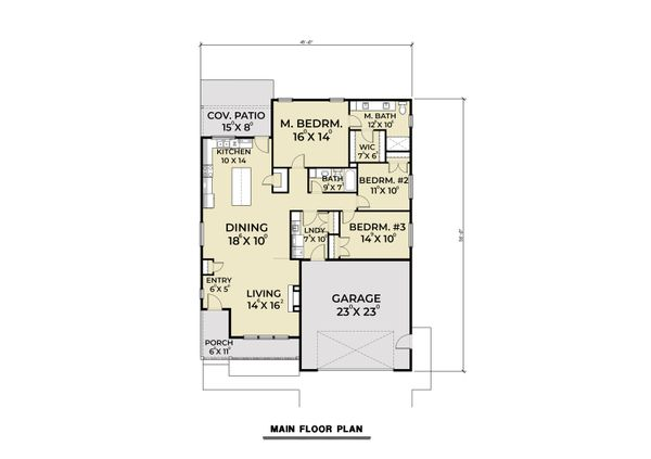 Dream House Plan - Craftsman Floor Plan - Main Floor Plan #1070-98