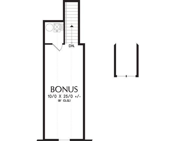 Craftsman Floor Plan - Upper Floor Plan Plan #48-662