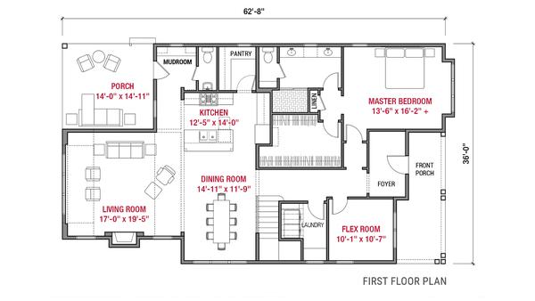 Farmhouse Floor Plan - Main Floor Plan #1079-4
