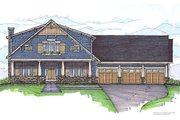 Craftsman Style House Plan - 4 Beds 4 Baths 3298 Sq/Ft Plan #459-6 Exterior - Front Elevation