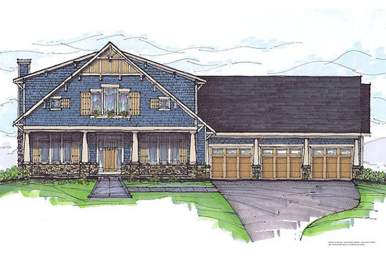Craftsman Exterior - Front Elevation Plan #459-6
