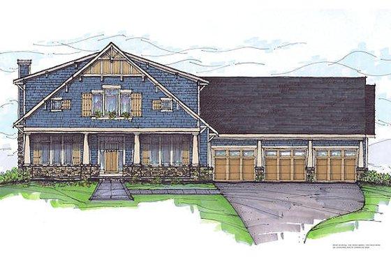 Craftsman Exterior - Front Elevation Plan #459-6