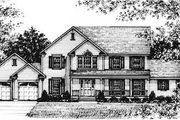 Country Style House Plan - 4 Beds 4 Baths 2378 Sq/Ft Plan #12-122 Exterior - Front Elevation