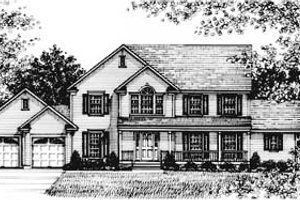 Country Exterior - Front Elevation Plan #12-122