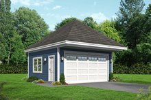 Country Exterior - Front Elevation Plan #932-233