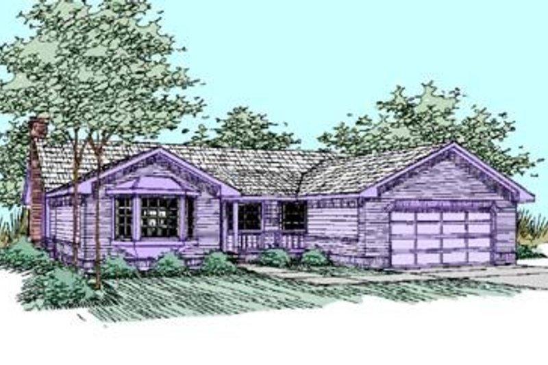 Ranch Exterior - Front Elevation Plan #60-423 - Houseplans.com