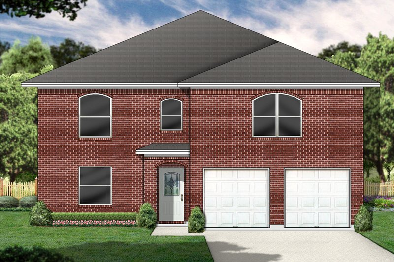 Traditional Style House Plan - 5 Beds 3 Baths 2955 Sq/Ft Plan #84-390 Exterior - Front Elevation