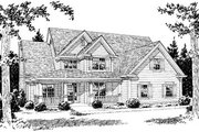 Farmhouse Style House Plan - 4 Beds 3.5 Baths 2778 Sq/Ft Plan #20-381 Exterior - Front Elevation