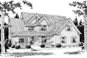 Farmhouse Exterior - Front Elevation Plan #20-381