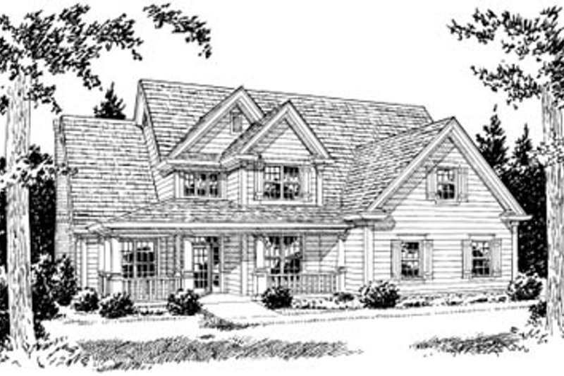Home Plan - Farmhouse Exterior - Front Elevation Plan #20-381