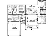 Craftsman Style House Plan - 3 Beds 2 Baths 1876 Sq/Ft Plan #21-358 Floor Plan - Main Floor