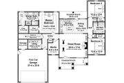 Craftsman Style House Plan - 3 Beds 2 Baths 1876 Sq/Ft Plan #21-358 Floor Plan - Main Floor Plan