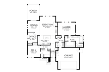 Prairie Floor Plan - Main Floor Plan Plan #48-684