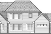 Colonial Style House Plan - 4 Beds 3.5 Baths 2795 Sq/Ft Plan #70-632 Exterior - Rear Elevation