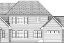Colonial Exterior - Rear Elevation Plan #70-632