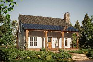 Country Exterior - Front Elevation Plan #923-207