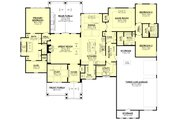 Ranch Style House Plan - 3 Beds 3.5 Baths 2974 Sq/Ft Plan #430-242 Floor Plan - Main Floor
