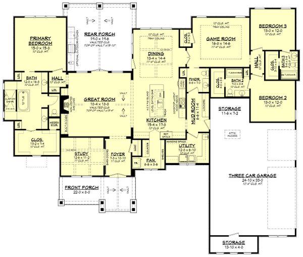 Ranch Floor Plan - Main Floor Plan #430-242