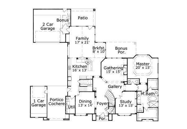 European Floor Plan - Main Floor Plan #411-211