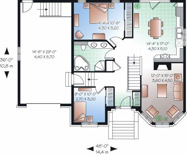 European Floor Plan - Main Floor Plan Plan #23-793