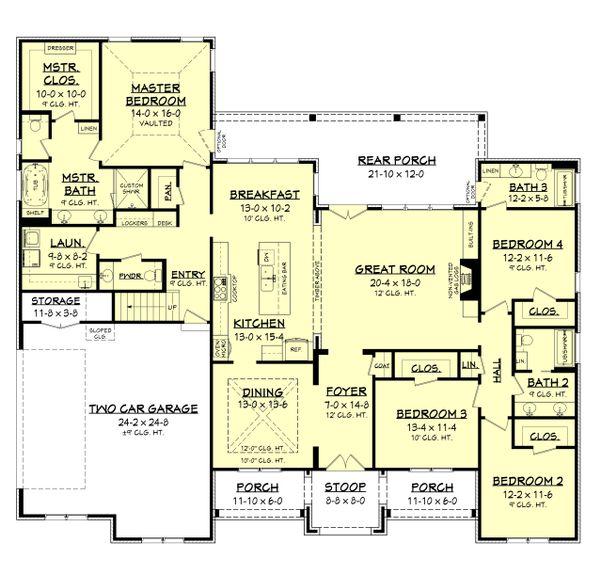 House Plan Design - Farmhouse Floor Plan - Main Floor Plan #430-199