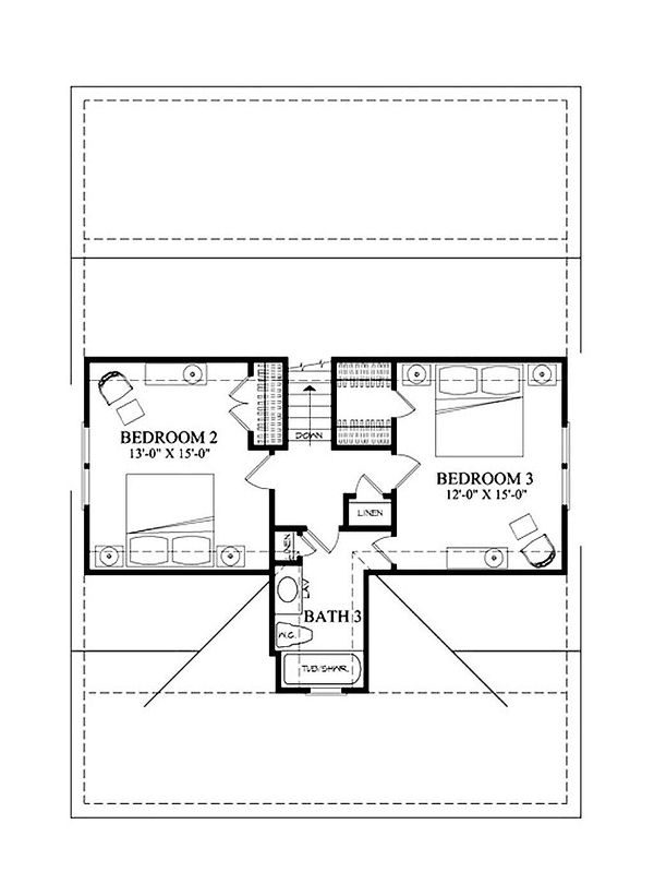 Country Floor Plan - Upper Floor Plan Plan #137-262