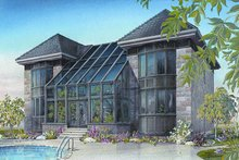 Dream House Plan - European Exterior - Front Elevation Plan #23-833