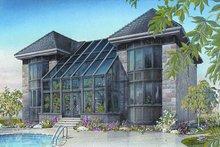 House Plan Design - European Exterior - Front Elevation Plan #23-833