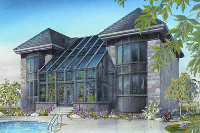 European Style House Plan - 3 Beds 2.5 Baths 3002 Sq/Ft Plan #23-833 Exterior - Front Elevation