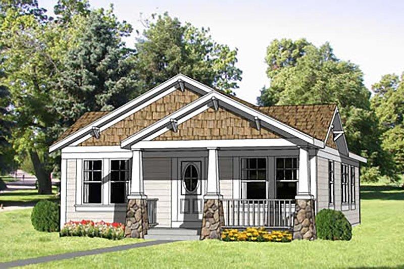 Craftsman Style House Plan - 3 Beds 2 Baths 1064 Sq/Ft Plan #116-304