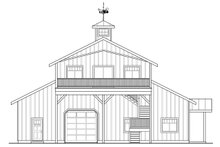 Country Exterior - Rear Elevation Plan #124-1052