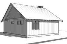 Cabin Exterior - Rear Elevation Plan #895-91
