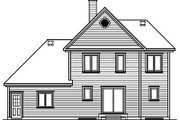 European Style House Plan - 3 Beds 1.5 Baths 1616 Sq/Ft Plan #23-298 Exterior - Rear Elevation