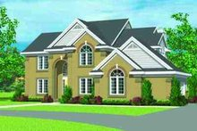 House Blueprint - European Exterior - Front Elevation Plan #72-228